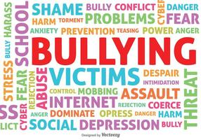 Bullying Contexte vectoriel typographique