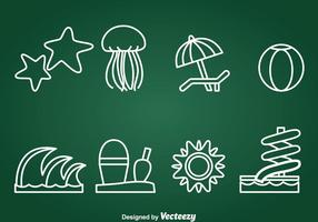 Water Recreatie Element Pictogrammen Vector