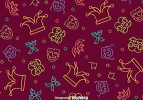 Holiday Purim Patern vector
