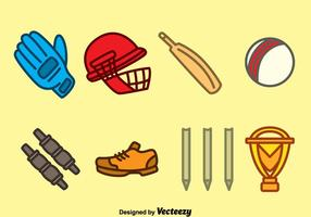 Hand getekende Cricket Element Vector