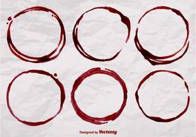 Formas realistas de vetores de manchas de vinho