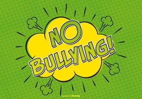 Comic Style No Bullying Allow Illustration