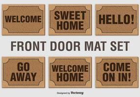 Set vettoriale di benvenuto Mat