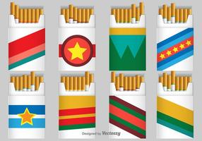 Cigarrillo Pack Vector Iconos