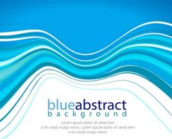 Vector Abstract Blue Wave Hintergrund