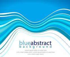 Vector resumen de antecedentes azul ola