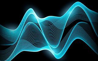 Vecteur résumé fond de vague bleue