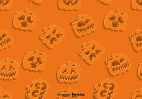 Vector SEAMLESS Pattern Of Jack-O-Lanterns