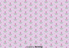 Lila Thistle Flowers Seamless Pattern