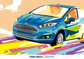 Ford fiesta popart vectorial