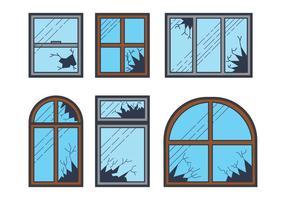 Vector fenêtre cassée