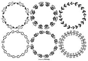 Caixinhas de vetores desenhadas à mão