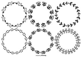 Mignon tracé à la main des cadres vectoriels