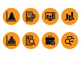 Market Analys Icons vector