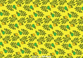 Hand Drawn Argan Seamless Pattern vector