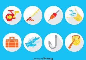 Fishing Element Vector Set