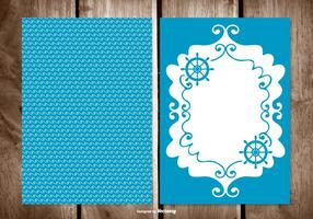 Blank Sailor Style Greeting Card Template
