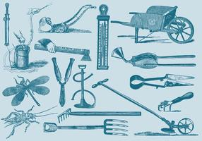 Garden And Farm Tools Set Two vector