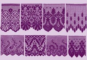 Lace Trim Silhouettes vector