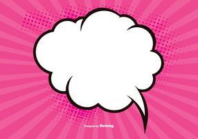 Fondo de cómic en blanco rosado
