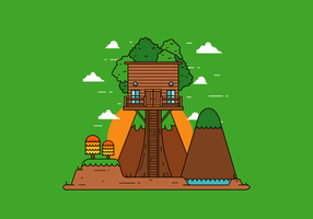 Vettore gratuito Tree House