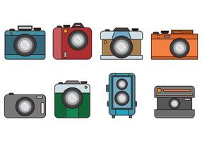 Set Van Camara Vector