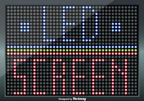 Led Screen Illustration - Fully Editable Elements