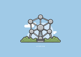 Atomium Monument Illustration