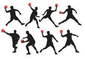 Vecteurs Silhouette Dodgeball