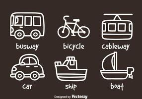 Transportation Hand Draw Icons