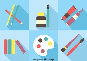 Herramientas de pintura conjunto de vectores