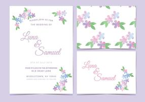 Pink Lilac Vector Wedding Invite