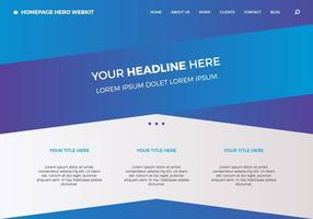 Homepage gratuita Hero Webkit 4