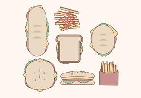 Collection Vector Sandwiches