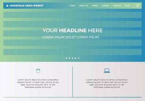 Héroe de la página de inicio gratuito Webkit 2