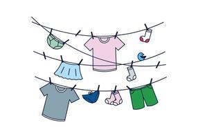 Kostenlos Hung Clothes Vector