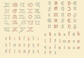 Antique Alphabets vector