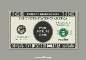 Free 100 Dollar Bill Vector Template