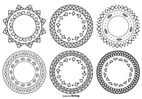 Cute Hand Drawn Style Frames vector