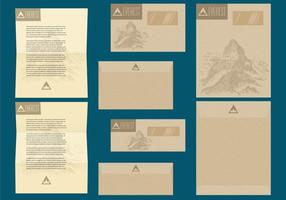 Rustic Letter And Envelope Templates vector