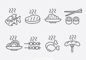 Outline Food Ikoner Vector