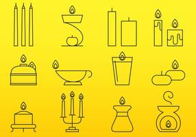 Candles Line Icons