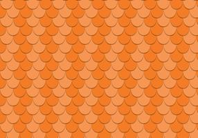 Free Scalloped Rooftop Vector Pattern