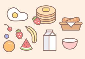 Vecteur gratuit de nourriture de petit déjeuner