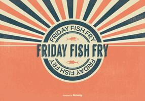 Retro Fish Fry Friday Illustration