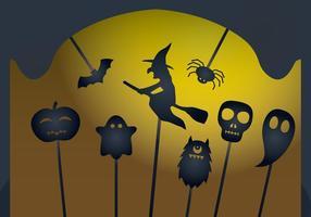 Vectores de la marioneta de la sombra de Halloween