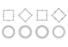 Gratis Cartouche Frame Vector