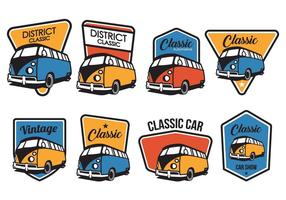 Gratis Classic Car Badge Vector Pack