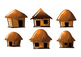 Stro hut shack vector