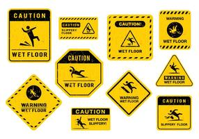 Fri Wet Floor Sign Vector